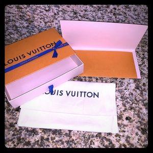 LV Wallet box, dust bag and receipt envelope